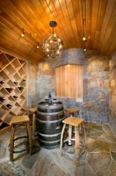 Wine room custom millwork
